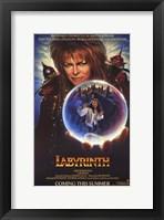 Framed Labyrinth - crystal ball