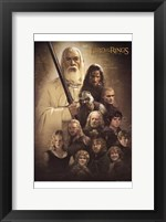 Framed Lord of the Rings: the Two Towers Cast