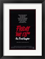 Framed Friday the 13Th Part 4 --The Final Chapter Film