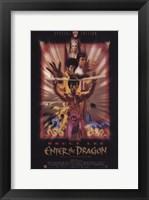 Framed Enter the Dragon Faded