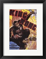 Framed King Kong Grabbing Airplane