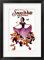 Framed Snow White with the 7 Dwarfs
