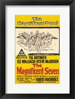 Framed Magnificent Seven Yul Brynner