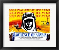 Framed Lawrence of Arabia Best Picture of the Year Yellow