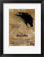 Framed Black Stallion