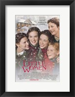 Framed Little Women - snow