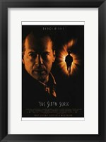 Framed Sixth Sense Bruce Willis