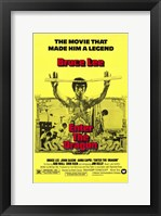 Framed Enter the Dragon Yellow