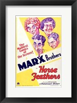 Framed Horse Feathers With The Marx Brothers