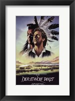 Framed Dances with Wolves Native American