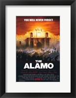 Framed Alamo You Will Never Forget