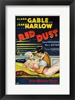 Framed Red Dust Gable and Harlow Film