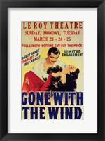 Framed Gone with the Wind Vintage Theater Advertisement White