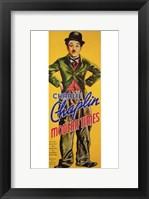 Framed Modern Times Bowler Hat Charlie Chaplin Tall