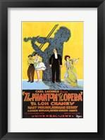 Framed Phantom of the Opera Violinist