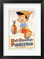 Framed Pinocchio with Jiminy Cricket