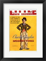 Framed Modern Times Charlie Chaplin