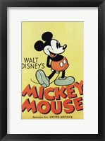 Framed Walt Disney's Mickey Mouse