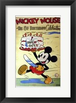 Framed Mickey Mouse in His 8Th Birthday Celebra