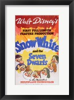 Framed Snow White and the Seven Dwarfs 1st Full Length