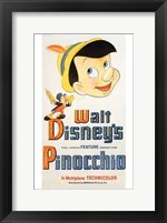 Framed Pinocchio Jiminy Cricket