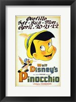 Framed Pinocchio Playing Ocotillo