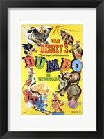 Framed Dumbo Cartoon