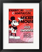 Framed Mickey Mouse and Silly Symphonies