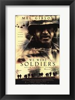Framed We Were Soldiers Movie Poster