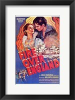 Framed Fire Over England