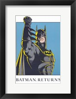 Framed Batman Returns Comic Close Up