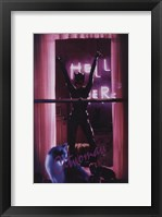 Framed Batman Returns Catwoman in Window