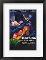 Framed Batman Forever Cast