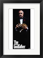 Framed Godfather with Cat