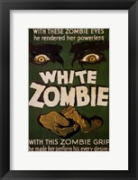 Framed White Zombie