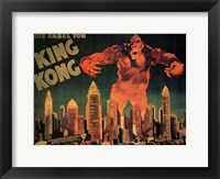 Framed King Kong City Skyline