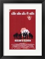 Framed Ocean's Eleven - red