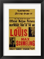 Framed Joe Louis and Max Schmeling