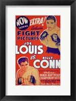 Framed Joe Louis Vs Billy Conn