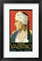 Framed Son of the Sheik With Rudolph Valentino