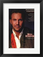 Framed Bull Durham Kevin Costner is Crash Davis