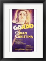 Framed Queen Christina Garbo