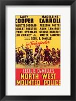 Framed North West Mounted Police