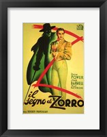 Framed Mark of Zorro (spanish)
