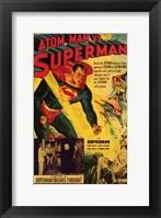 Framed Atom Man Vs Superman Superman Crashes Through