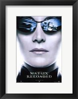 The Matrix Reloaded Trinity Framed Print