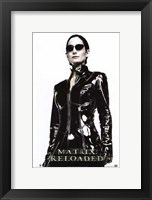 The Matrix Reloaded Carrie-Anne Moss as Trinity Framed Print