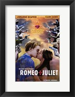 Framed William Shakespeare's Romeo Juliet Kiss