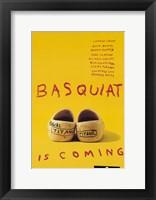 Framed Basquiat - yellow