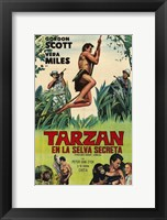 Framed Tarzan's Hidden Jungle, c.1955 (Spanish) - style A